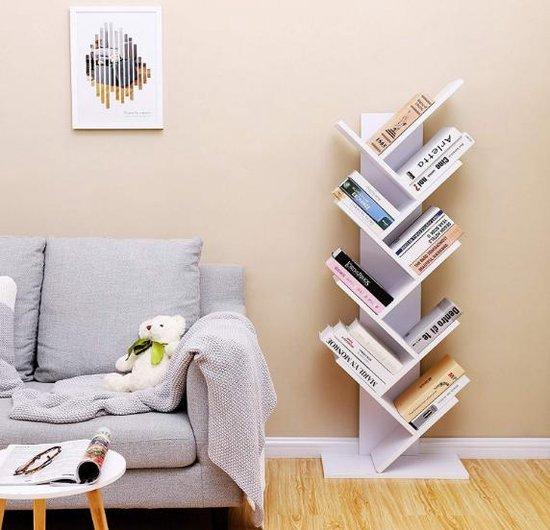 MIRA Home - Boekenkast - Boekenrek - Boekenplank - Boomvorm - Woonkamer - Kantoor - 50x25x141.5