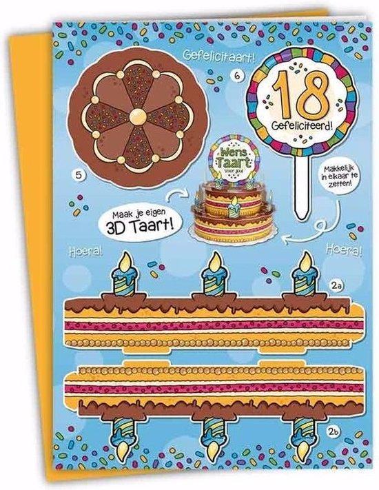 Verrassend bol.com | XXL 3D taart kaart 18 jaar PA-43