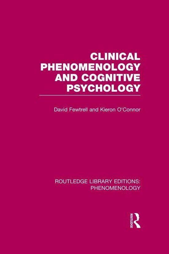 Boek cover Clinical Phenomenology and Cognitive Psychology van David Fewtrell (Onbekend)
