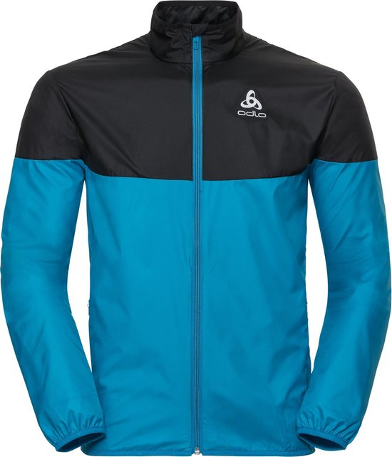 Odlo Jacket Core Light Hardloopjas Heren Blue Jewel Black