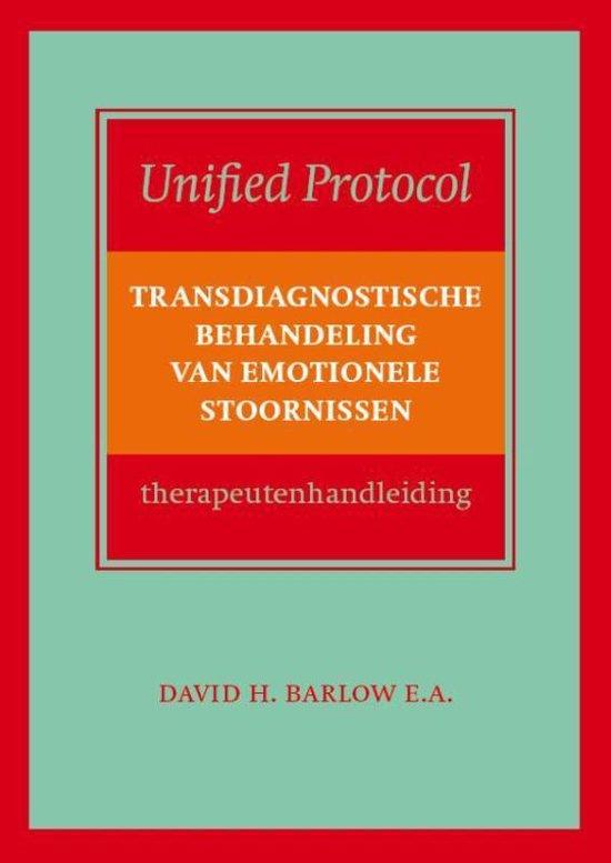 Cover van het boek 'Transdiagnostische behandeling van emotionele stoornissen, therapeutenhandleiding'