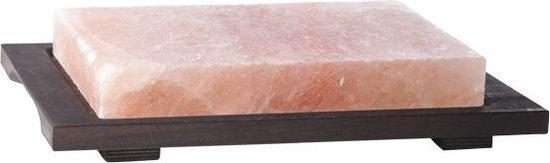Bisetti Zoutsteen - Rechthoekig In Houten Basis
