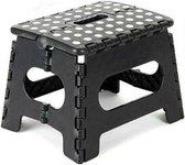 Kruk - Krukje - Keukentrap - Keukentrapje - Opvouwbaar - Zwart Wit - tot 80 kg