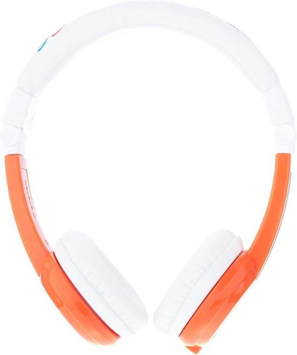 onanoff BuddyPhones Explore Foldable mobiele hoofdtelefoon Stereofonisch Hoofdband Oranje, Wit Bedraad
