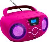 Bigben CD61RSUSB - Draagbare Radio & CD-Speler met USB - Roze