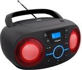 Bigben CD61NUSB - Draagbare Radio & CD-Speler met USB - Zwart