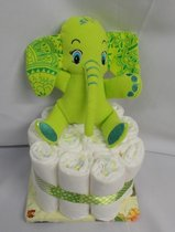 1 laag pampertaart olifant olli groen