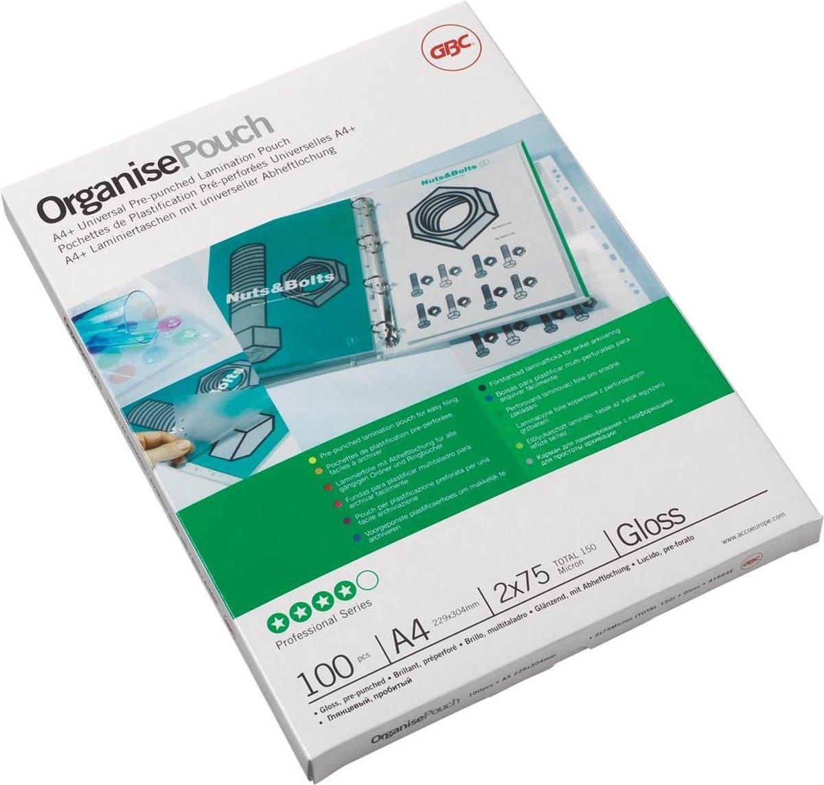 GBC - Document Lamineerhoezen - A4 150 Micron - Glanzend