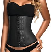 Ann Chery Waist Trainer 3-Hooks - 100 % Natuur Latex - Made in Colombia - Zwart - Maat L (kledingmaat 38/40)