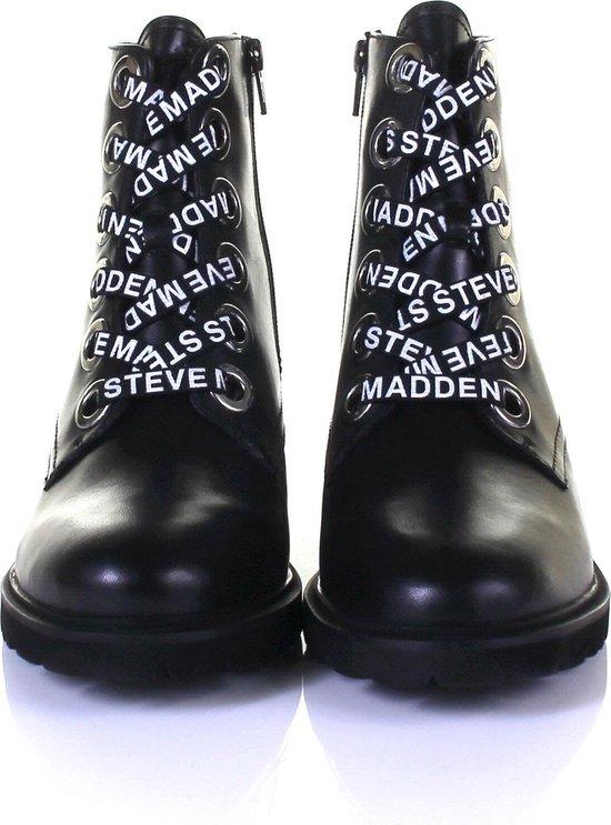 Steve Madden Dames Veterboots Lindia Ankleboot - Zwart Maat 41 stqrrY