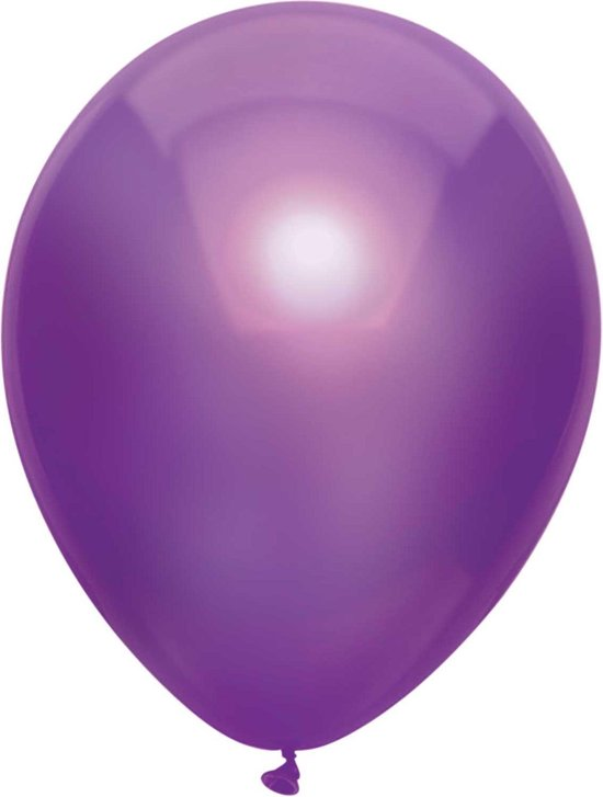 Ballonnen Metallic Paars (10ST)