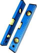 Hofftech Waterpas 30cm - Blauw met 3 libellen