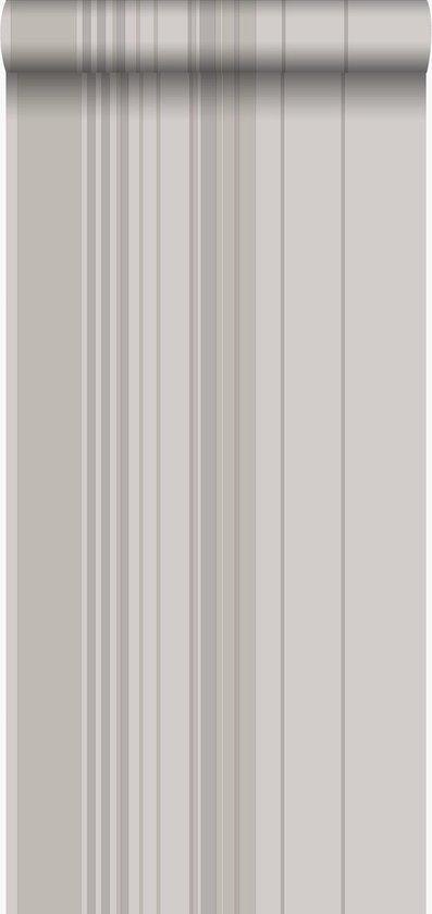 Ongebruikt bol.com | Origin behang strepen taupe en grijs - 346225 - 53 x 1005 cm EB-61