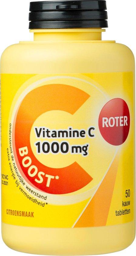 Roter Vitamine C 1000mg Boost Voedingssupplement - 50 Kauwtabletten