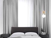 Kant en klaar Gordijn - Verduisterend - Met plooiband - 288x180 cm - Licht Grijs - 1 Stuk