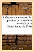 Reflexions sommaires sur les operations de l'Assemblee electorale du departement de la Haute-Vienne