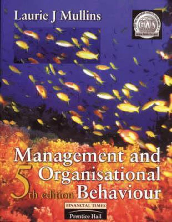Boek cover Management and Organisational Behaviour van Laurie J. Mullins (Paperback)