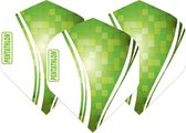 Pentathlon Wave - sterke flights - Groen  - Dragon darts - 1 Set (3 stuks) - darts flights