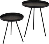 Gusta Decoratieve mini tafeltjes 2 stuks   13,5 cm en 19 cm hoog (let op: klein)