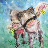 Canvas schilderij BOEHOE kunstdruk