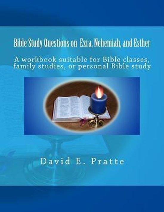Boek cover Bible Study Questions on Ezra, Nehemiah, and Esther van David E Pratte (Paperback)