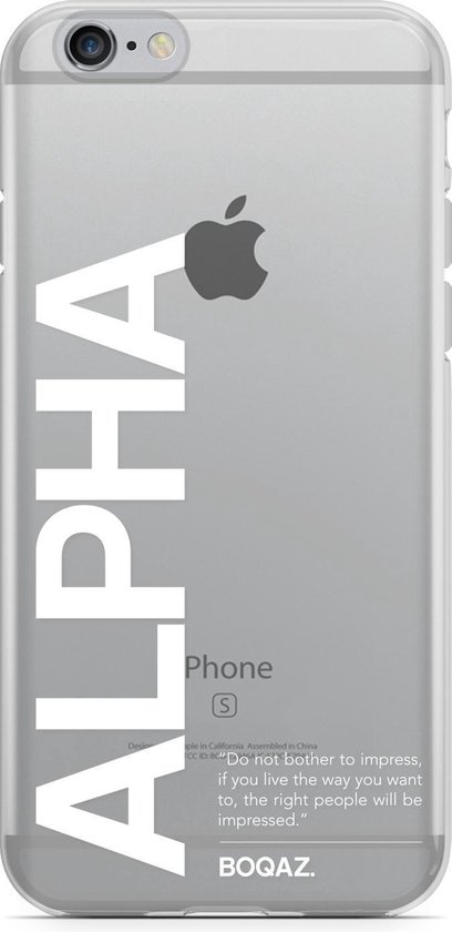 | BOQAZ Apple iPhone 66S TPU Back Cover hoesje