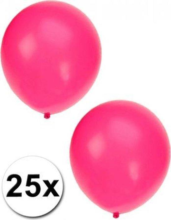 25x Fluor roze ballonnen
