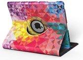 Apple iPad Hoes - 360° Draaibaar -  Voor de iPad Pro(!) 9.7 - 'Geometrisch' - Uniek Design