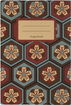 Notitieboek A5 Japans Gelijnd - Happybook - Japan - Softcover - Elastiek - 100 Pagina - Werk - Studie - Dagboek - Uniek