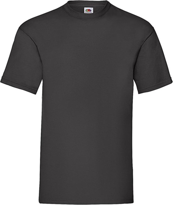12-pack Fruit Of The Loom T-shirts - Ronde Hals Zwart
