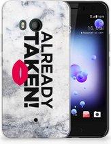 HTC U11 TPU-siliconen Hoesje Design Already Taken White