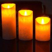 LED Kaarsen Set Met Afstandsbediening - 3 Stuks