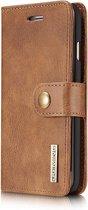 DG.Ming - iPhone 8 Hoesje - Uitneembare Wallet case Cabello Bruin