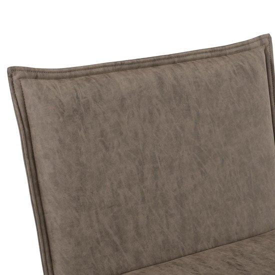 Relaxfauteuil met voetenbank - Alcantara kunstleer - bruin - en.casa