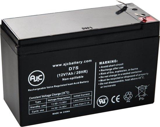 AJC® battery compatibel met Hitachi HP7-12 12V 7Ah Lood zuur accu