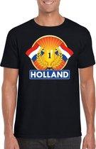 Zwart Nederland kampioen t-shirt heren - Holland supporters shirt L