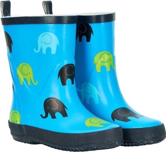 | Regenlaarzen natuurrubber blauwe olifant Celavi