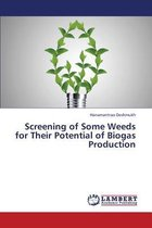 Screening of Some Weeds for Their Potential of Biogas Production