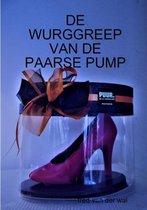 De wurggreep van de paarse pump