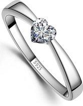 Zilveren Ring - Ring Hart - Damesring - 16.75mm