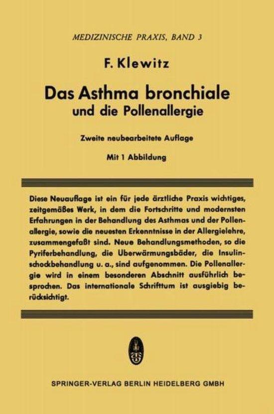 Omslag van Das Asthma Bronchiale Und Die Pollenallergie