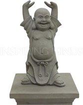 Boeddha beeld Hotei Boeddhabeeld 40 cm Grijs| GerichteKeuze