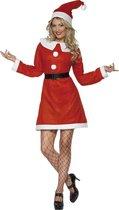 Volwassenenkostuum Kerstvrouw Miss Santa maat S