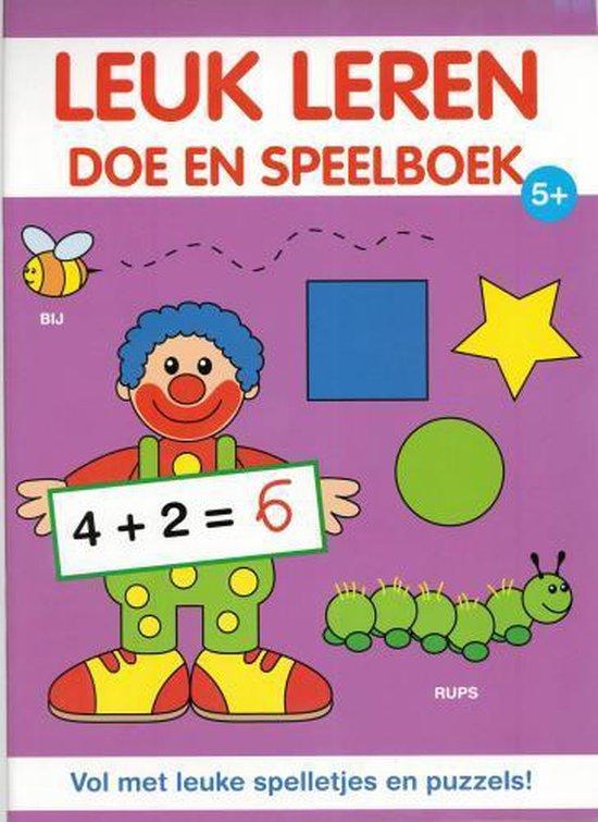 Leuk leren doe en speelboek 5+ - Diverse auteurs |