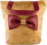 Kurk - handtas - boodschappentas - vegan - duurzaam - eco - bruin - rood