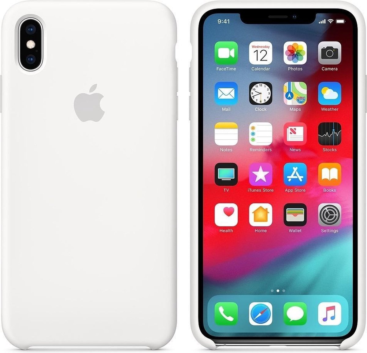 Apple iPhone XS Max Siliconen Case - Wit