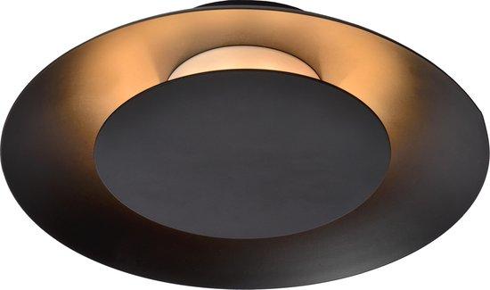 Lucide FOSKAL - Plafonnière - Ø 21,5 cm - LED - 1x6W 2700K - Zwart