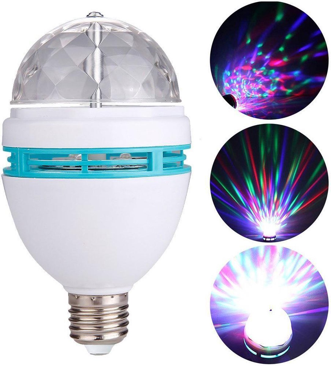 Premium Roterende LED Disco Lamp - E27 - 15x8cm - Merkloos