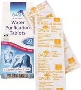 Oasis waterzuiverings tabletten     50 stuks per verpakking