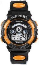 HONIX S-Sport - Horloge - 37 mm - Kunststof - Zwart/Oranje